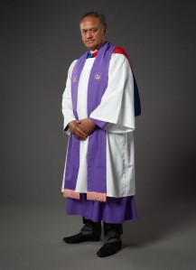 The Honourable Mita Ririnui in his Āpotoro Rēhita robes. Photographed by Michael Hall. Copyright Te Papa Tongarewa, 2012.